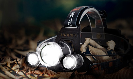 One or Two Power LED 5000 Lumen Headlamps