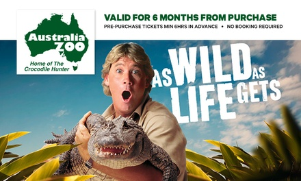 Australia Zoo: 1Day or 2Day Child, Adult or Pensioner Tickets