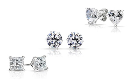 3-Pack of Sterling Silver Swarovski Elements Stud Earrings
