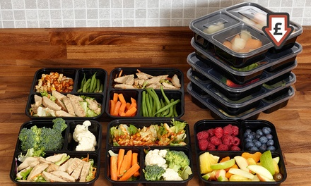 One Two or Three Compartment Food Prep Containers