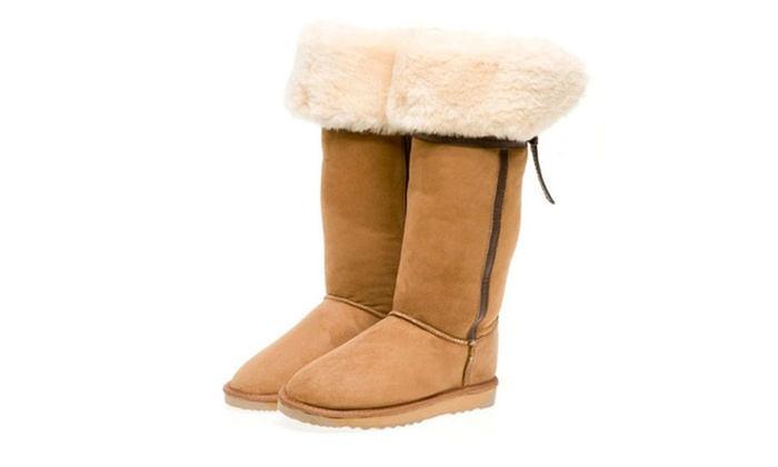 ... Long UGG Boots with Back Bow