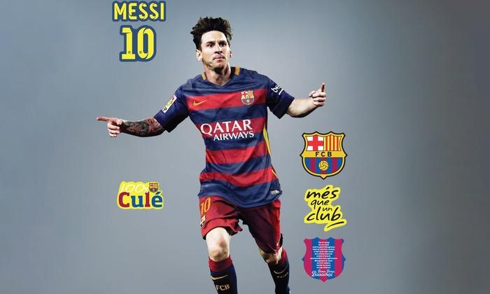 Groupon Goods Global GmbH: Vinilo decorativo oficial de jugadores de FC Barcelona® desde 12,90 € (75% de descuento)