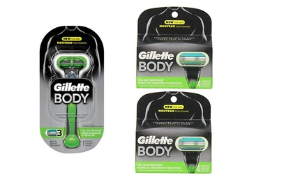 Gillette Men's Body Razor Blades with 9 $19 or 17 $29 Don't Pay up to $89.75