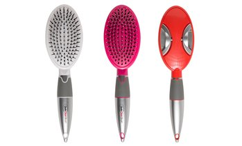 Qwik-Clean Brush Self Cleaning Re-tractable Hair Brush