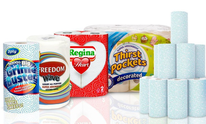 Up to 24 Rolls of Kitchen Towel Jumbo or Regular Sizes for £7.50