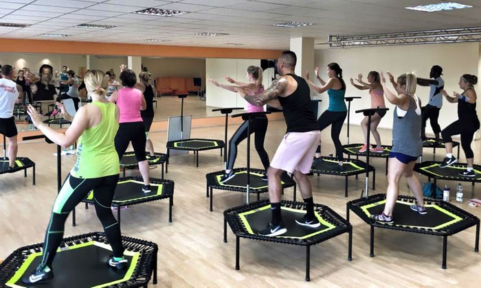 jumping fitness f r 1 person cato health and sports company groupon. Black Bedroom Furniture Sets. Home Design Ideas