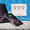 Aduro 3-Outlet Travel Surge Protector with Dual USB Port
