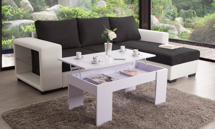 Groupon Goods Global GmbH: Table basse plateau relevable
