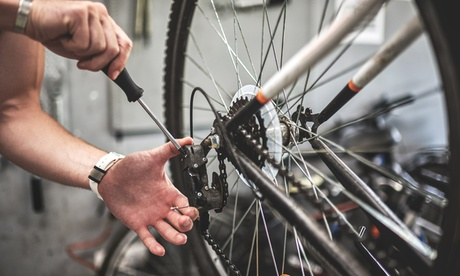 Bike Tune-Up and Safety Inspection or Full Overhaul for One Bike at Big Shark Bicycle Company (Up to 56% Off)
