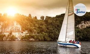 LAGO VELA STRESA: Escursione in barca a vela sul Lago Maggiore con aperitivo a bordo per 2 persone con Polaris Yacht (sconto 50%)