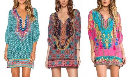 $16 for One or $26 for Two Front Tie Boho Mini Dresses