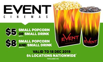 Small Popcorn or Small Drink