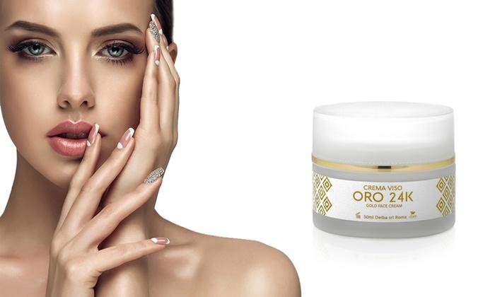 Crema viso Oro 24K e Acido Jaluronico