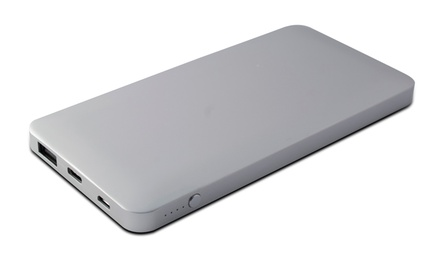 Batería externa Ksix de 10000 mAh con entrada Micro USB, entrada/salida USB Tipo C y una salida USB Tipo A