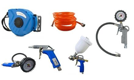 Kit compressore gonfiaggio e aerografo