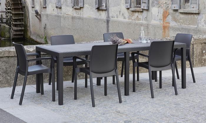Groupon Mobili Da Giardino.Tavoli Allungabili Da Esterno Made In Italy Disponibili In 3 Colori