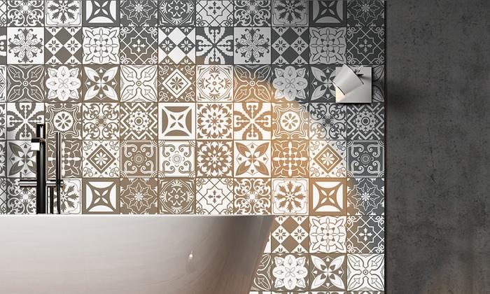 stickers carrelage groupon shopping. Black Bedroom Furniture Sets. Home Design Ideas