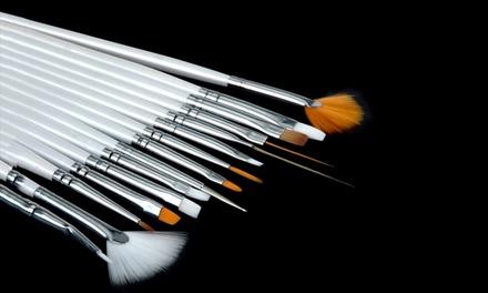 Set di 15 pennelli Nail Art