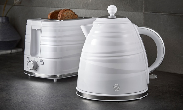 Swan Symphony Jug Kettle and Two-Slice Toaster Set in Choice of Colour