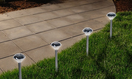 24-Piece Set of Pure Garden Solar Diamond Pathway Lights