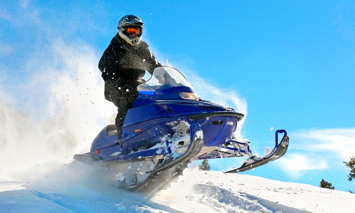 Blue Mountain Activities - Ravenna: Snowmobile Rental for Two with Optional Snowshoe Rental at Blue Mountain Activities (Up to 47% Off)