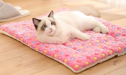 Star Print Fleeced Thermal Pet Bed