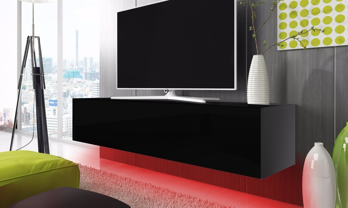 meuble tv led groupon. Black Bedroom Furniture Sets. Home Design Ideas