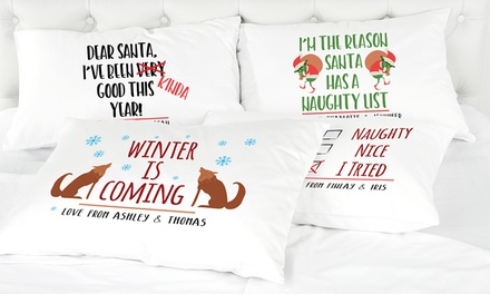 Personalised Christmas Pillowcase: One $8.95 or Two $15.95 Don't Pay up to $48.40