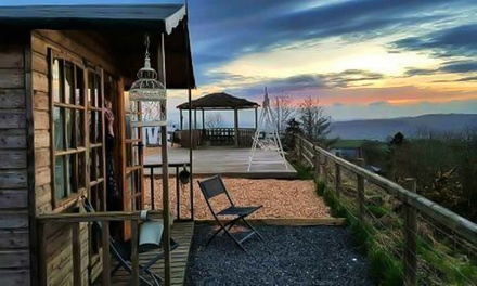 Shropshire: 1 or 2Night Glamping for Two with Breakfast, Hot Tub Access and Wine or Gin Cream Tea at Abel's Harp