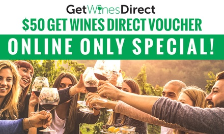 $5 for $50 Credit at Get Wines Direct - $99 Minimum Spend