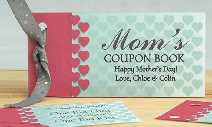 1 or 2 Personalized Mother's Day Coupon Books | Groupon