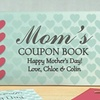 1 or 2 Personalized Mother's Day Coupon Books