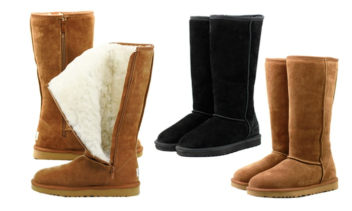 b6617be3e95 Up To 70% Off Tall Zip Up Water-Resistant UGG | Groupon