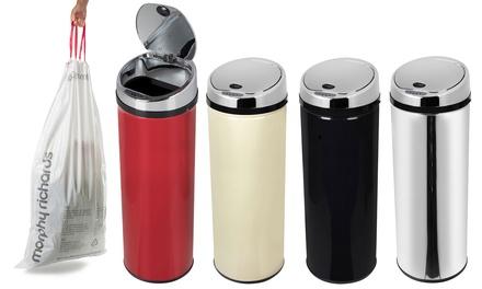 Automatische prullenbak van Morphy Richards met 50 L capaciteit in kleur naar keuze