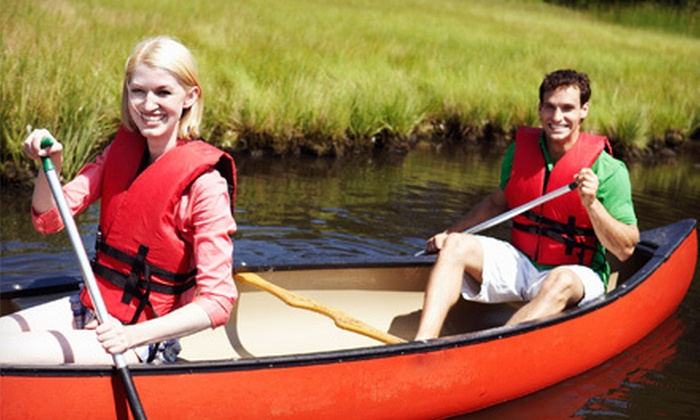 Riverfront Camp Canoe - Bennett Springs: Canoe River Day Trip for Two, Four, or Six at Riverfront Camp Canoe (Up to 54% Off)
