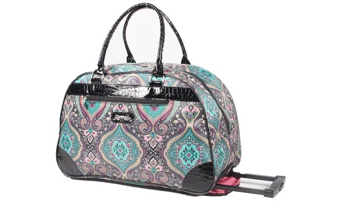 Kathy Van Zeeland Paisley Travel Bag