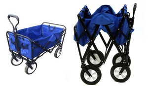 Foldable Utility Wagon with Easy Steering