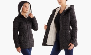 Steve Madden Sherpa-Lined Glacier Shield Quilted Jacket (Sizes M & L)