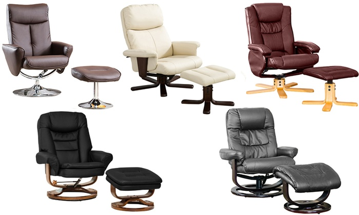 massage chair and footstool. groupon goods global gmbh: swivel recliner chair with footstool and optional massage heat function o