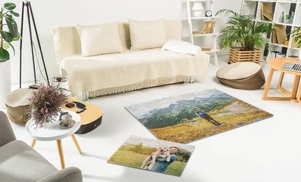 Tapis de sol personnalisable 70 x 50 cm ou 150 x 100 cm dès 12,99 € avec Photo Gifts  (jusqu'à 86% de réduction)
