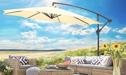 Gartenfreude Alu-Ampelsonnenschirm 3 m Ø 100% Polyester ca. 180 gm2 360° drehbar und UV 50+ in der Farbe nach Wahl