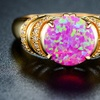 18K Gold Plated Pink Oval Ring