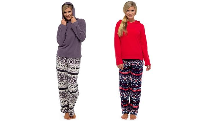 Women's Fair Isle Fleece Pyjamas | Groupon Goods