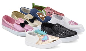 Olivia Miller Kids' Character Slip-On Sneakers