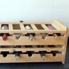 Stacking Wooden Wine Organizer (2-Pack)
