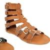 Olivia Miller Roma Women's Multibuckle Gladiator Sandals