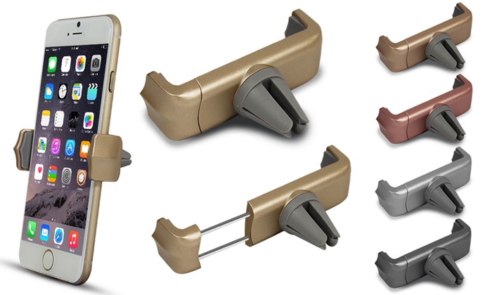 One or Two Car Vent Smartphone Holders in Choice of Colour from £4.99