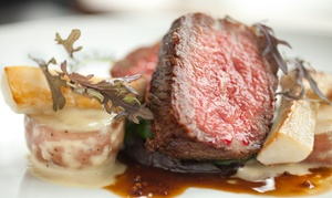 Second Act Wine Bar: Porterhouse Steak with Wine for Two ($49) or Four People ($95) at Second Act Wine Bar (Up to $180 Value)