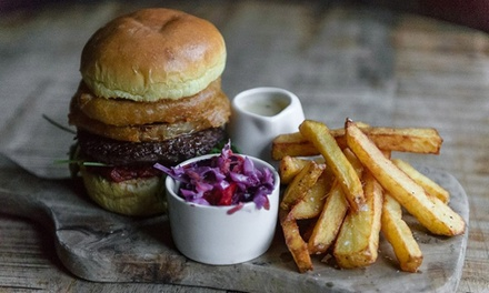 Choice of Craft Burger with Optional Craft Beer for Two or Four at The Hole in The Wall