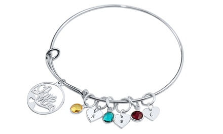 Personalized Mother's Bangle with One or Two Initials and Stones from MonogramHub (Up to 96% Off)